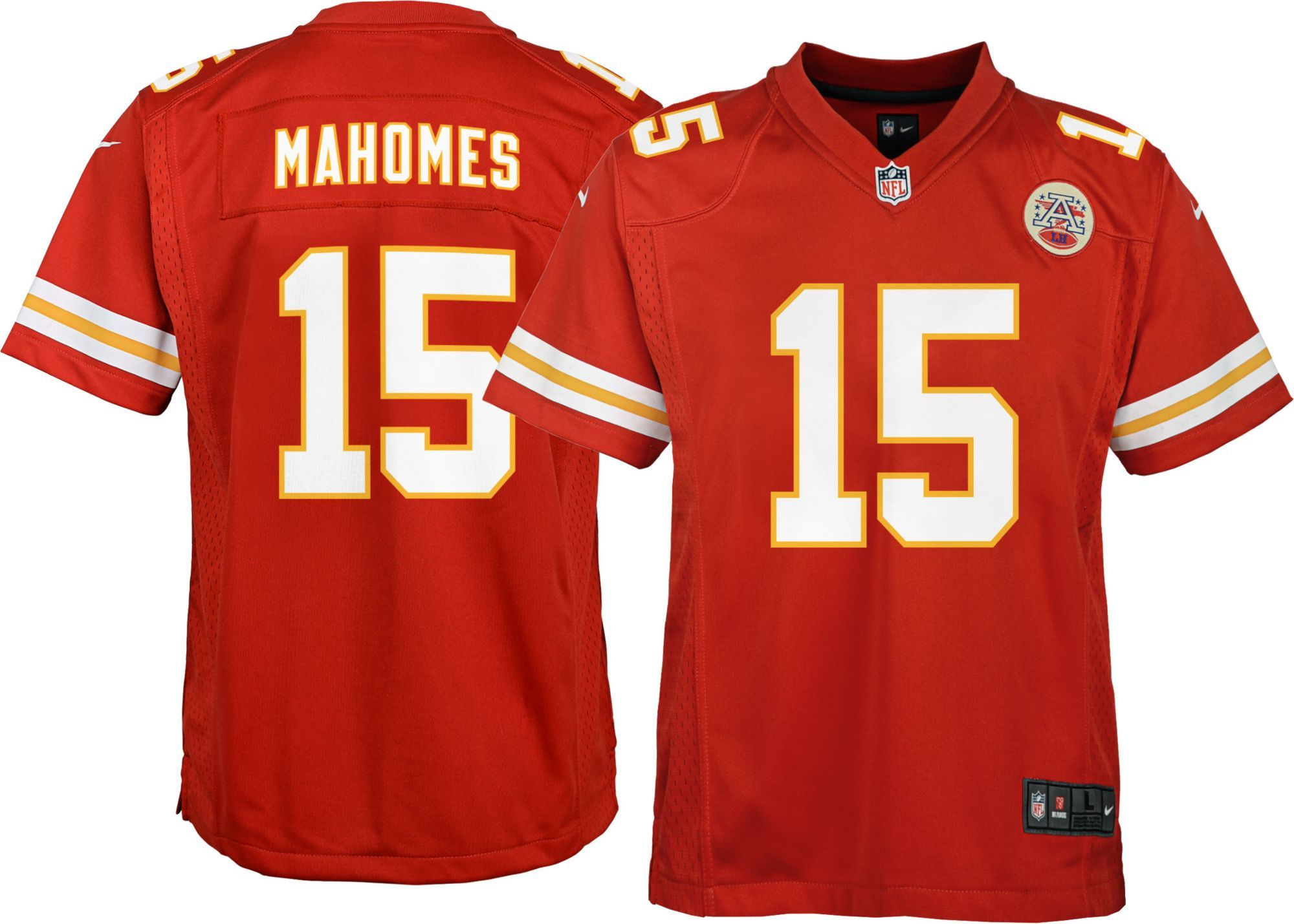 Nike Youth Home Game Jersey Kansas City Patrick Mahomes  15 in 2019 ... 90c788e8a