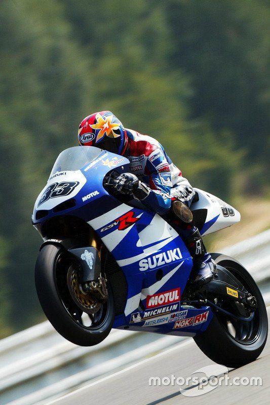 Wonderful Akira Ryo Wheelies His Suzuki GSV R In Brno, MotoGP 2002 Czech Republic  Grand
