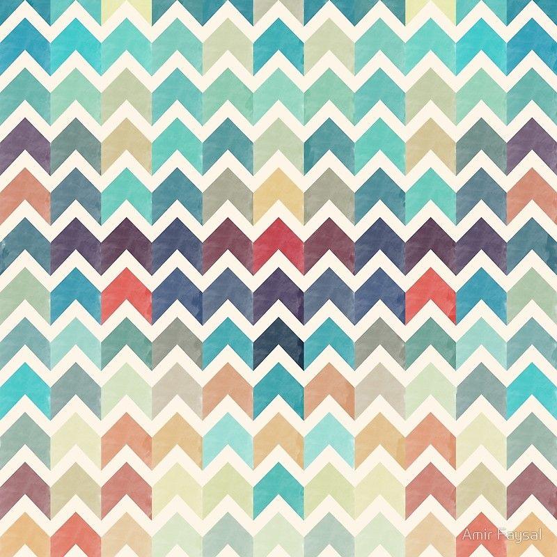 Watercolor Chevron Pattern Poster By Amir Faysal Duvet Cover Pattern Pattern Comforters Pattern Art