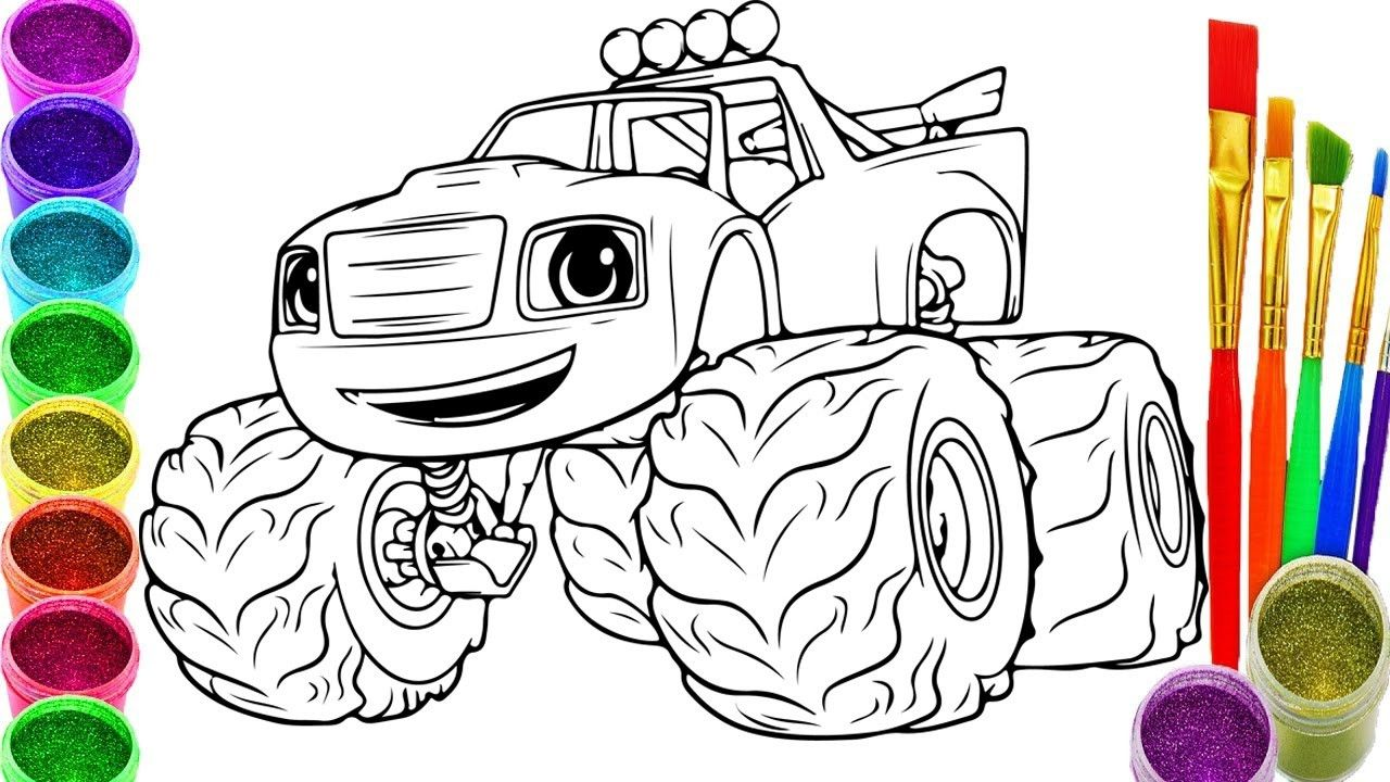 50 Blaze And The Monster Machine Coloring Pages Go2d In 2020