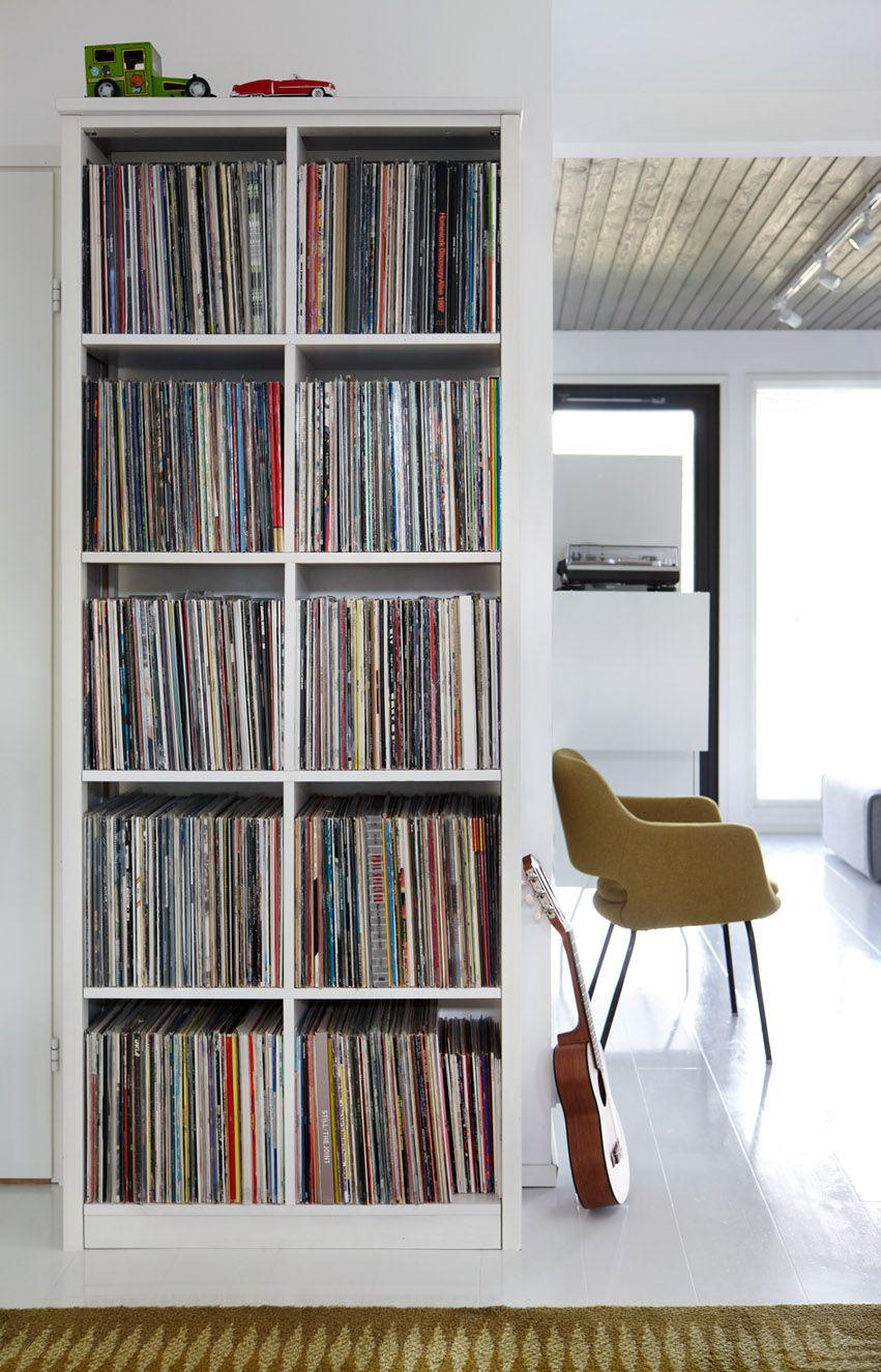 Lundia Records Storage Mobilier De Salon Rangement Vinyle Et