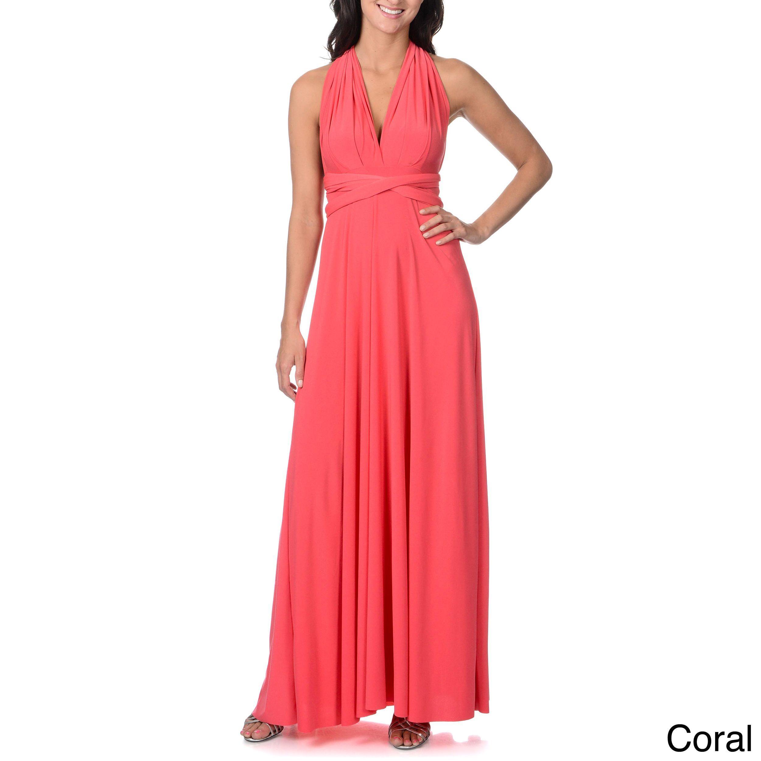 Von ronen new york womenus long transformer dress fits