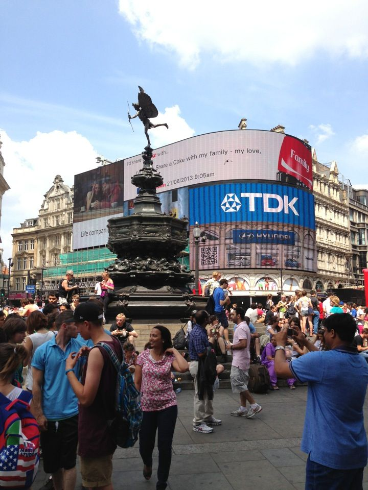 Image result for piccadilly circus people talking""
