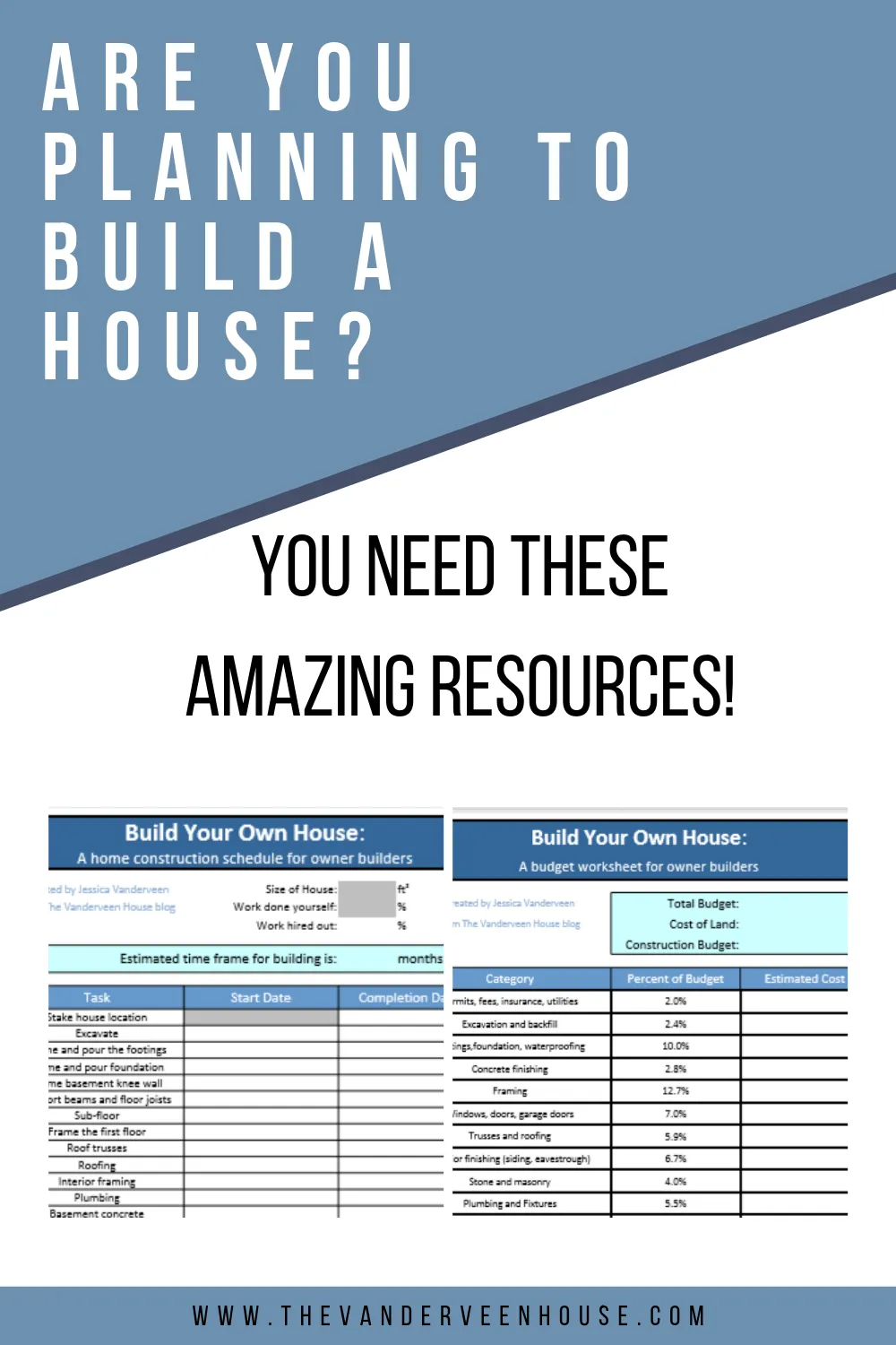 House Construction Schedule And Budget Worksheet Building A House Checklist Building A House Build Your Own House