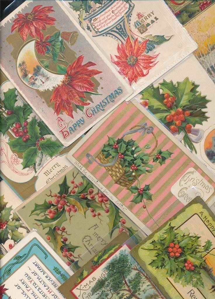 Beautiful Lot of 25 Vintage Christmas Postcards-Antique-eee109