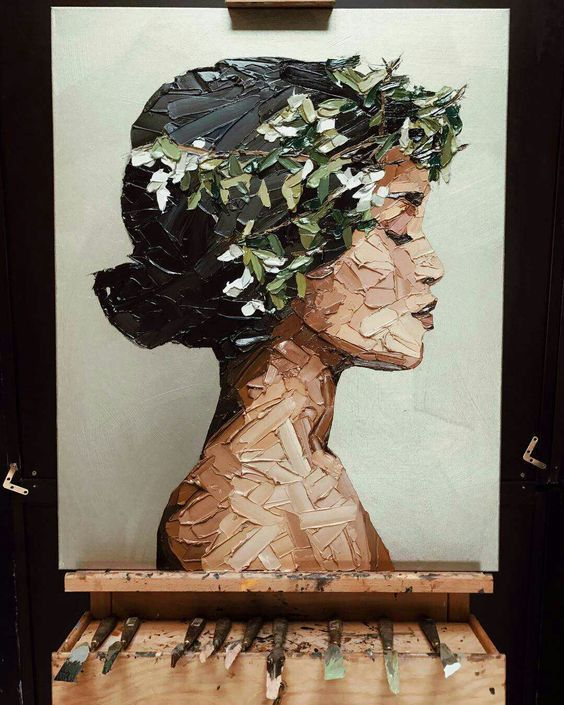 Pastöse Ölmalerei #wasserfarbenkunst
