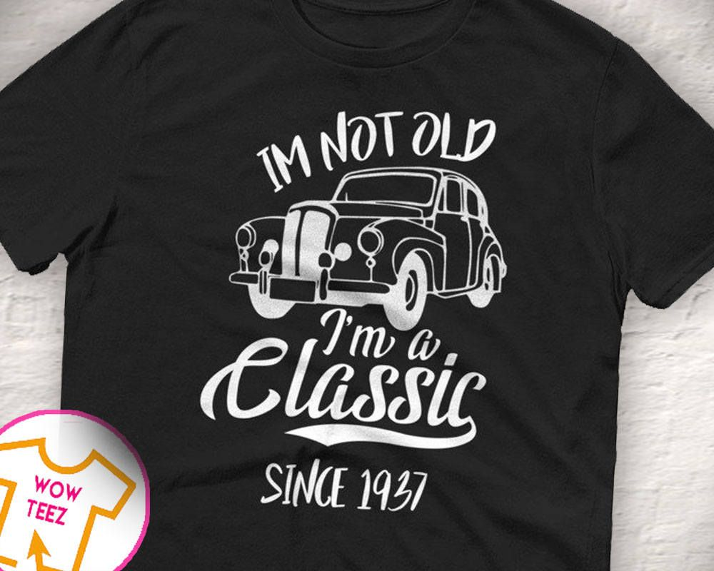 32f7aacb Classic Since 1937, 80th Birthday Shirt, 80th bday, 80th birthday gift,  Funny 80th Shirt, 80 Years old, 1937 Shirt, 80th, 80th Gift for him by  WowTeez on ...