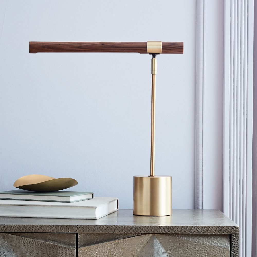 Linear Wood Led Table Lamp In 2019 Table Lamp Wood