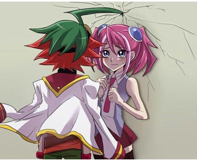 ARC-V Yuya Sakaki Cosplay Wig Green Red Party Hair Yu-Gi-Oh