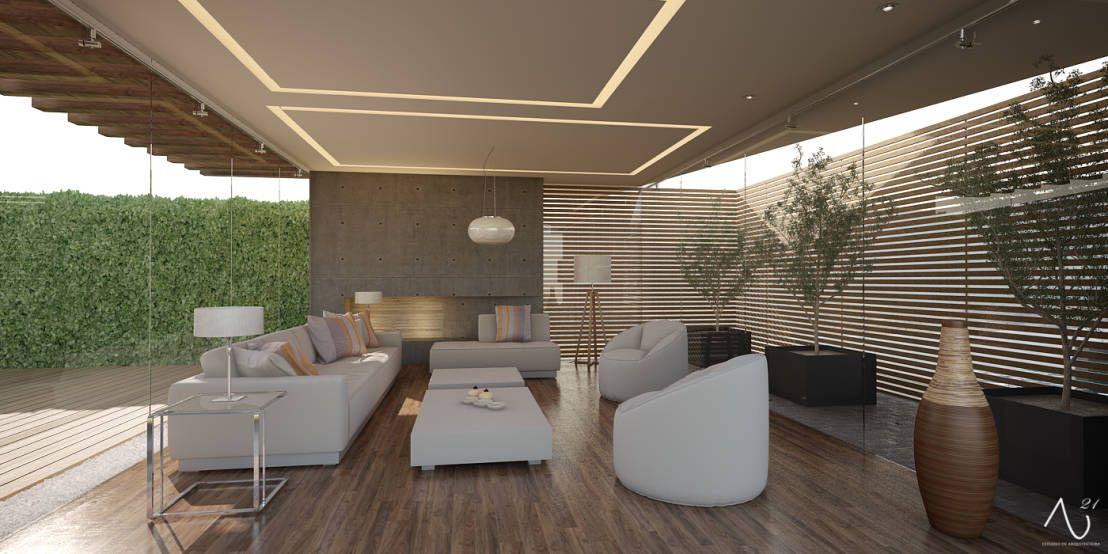 Sala de Estar  Salones minimalistas de 21arquitectos