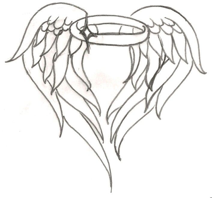Easy To Draw Angel Wings Halo Google Search With Images