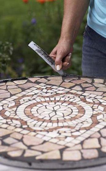 Bauanleitung für einen Mosaiktisch