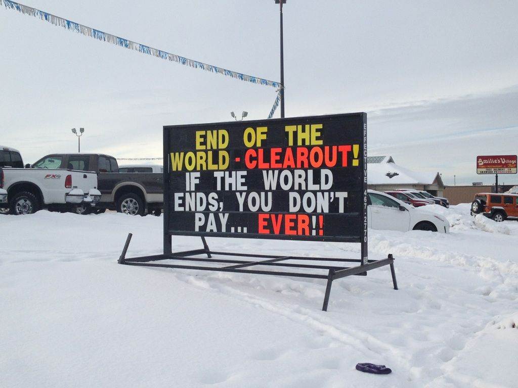 Sign At A Mazda Dealership In Canada Best Sale Ever Clean Funny Pictures End Of The World Best Funny Pictures