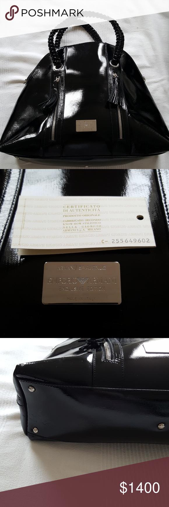 e0645406144 EMPORIO ARMANI EXCLUSIVE EDITION VINTAGE BAG AUTHENTIC vintage Emporio  Armani .. Brand new unused unworn