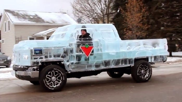 Pickup Truck Made Of Ice That You Can Actually Drive