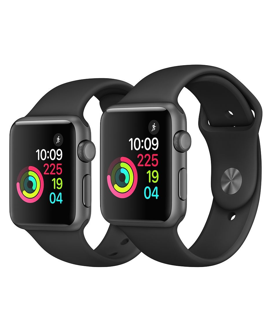 Apple Watch Space Gray Aluminum Case with Black Sport