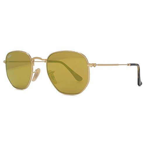 d3ef5b652d8 Ray-Ban Hexagonal Flat Lens Sunglasses in Gold Green RB3548N 001 51 ...