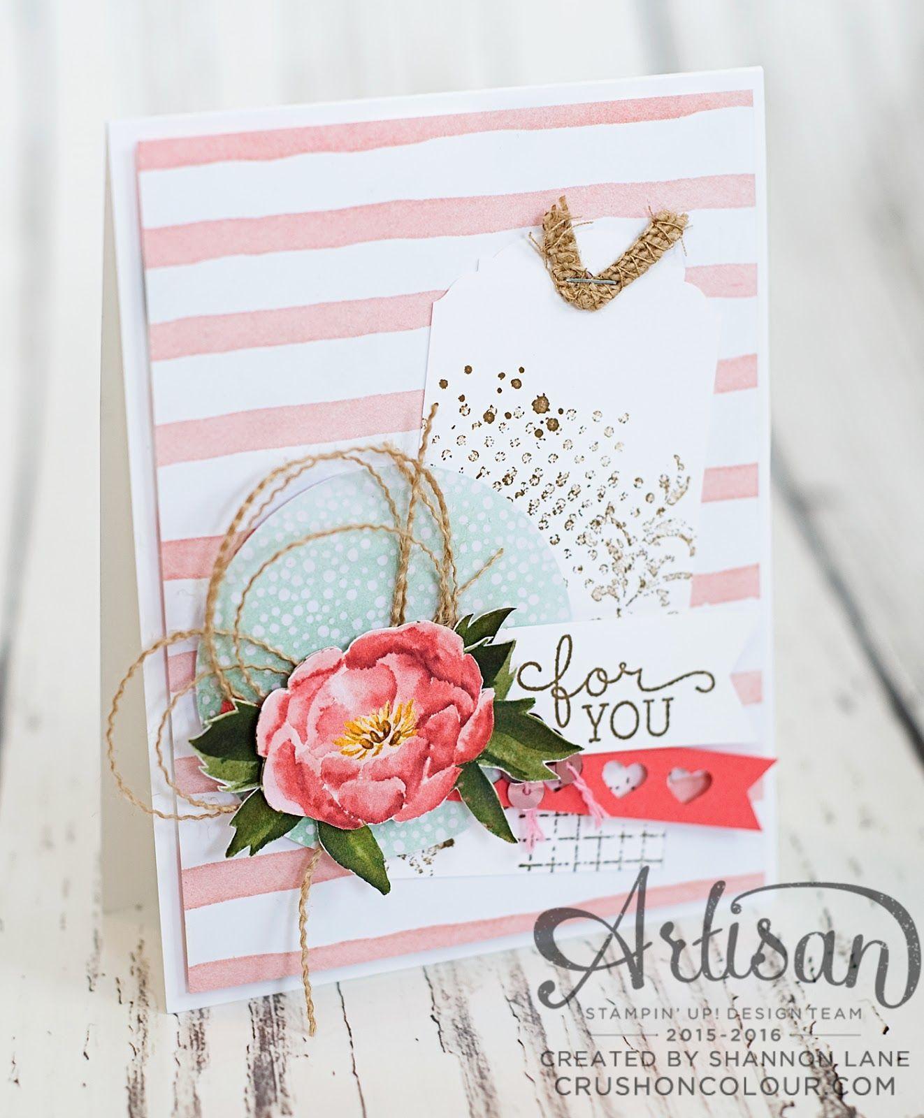 Crush on colour stampinu up artisan design team blog hop easter