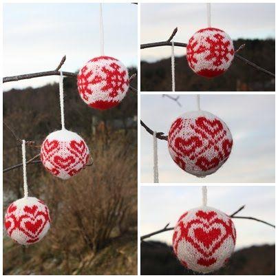 Knit Norwegian Christmas ornaments