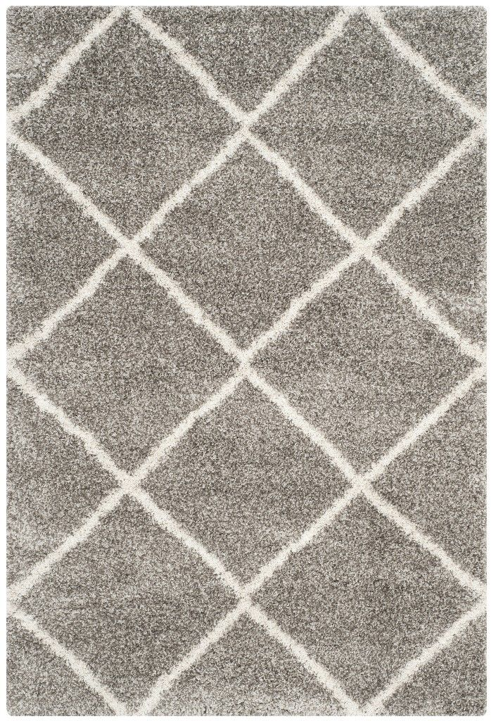 Hudson Shag Collection 8 X 10 Rug In Grey And Ivory