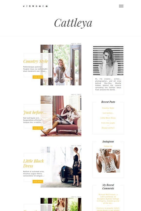 Cattleya Lifestyle Blog WP Theme by Theme Bullet on @Graphicsauthor ...