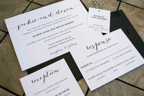 18 Simple Inexpensive Wedding Invitations The Overwhelmed Bride