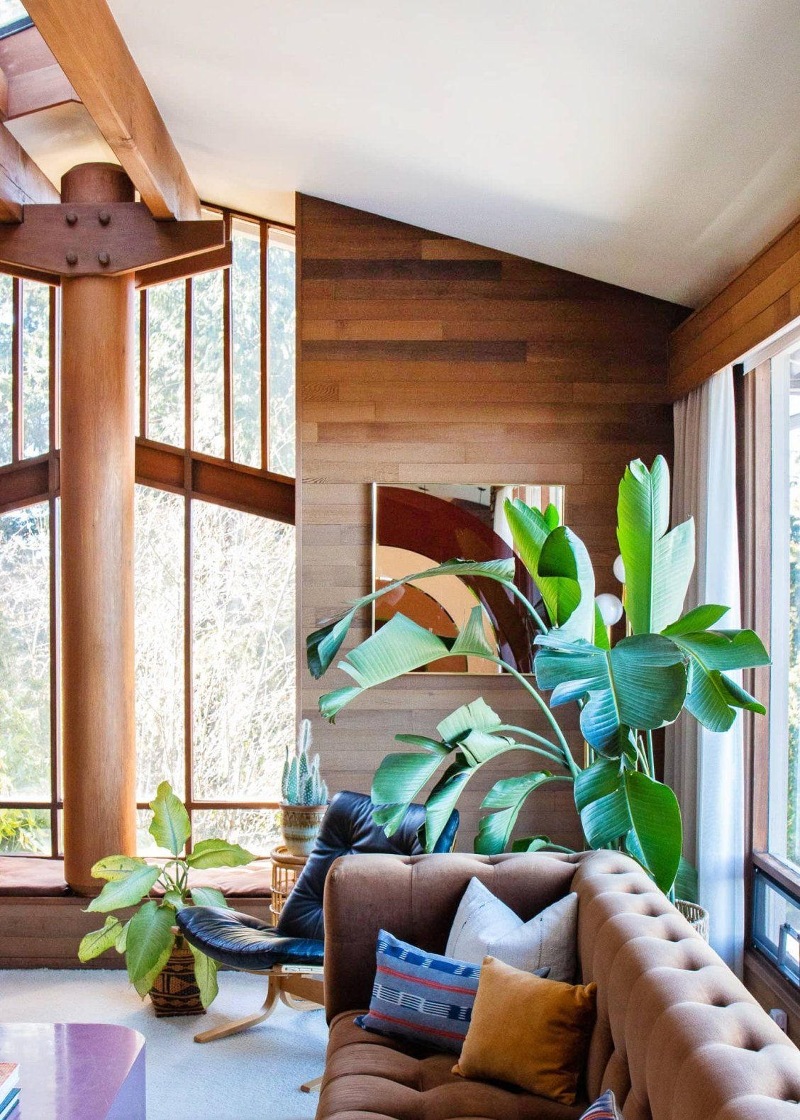 Mid Century Tropical Vibes Meet Cabin Retreat In This Home With