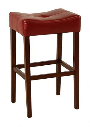 Barstool With Hardwood Legs And Footrail Stretcher Tufted Saddle Seat Design With Polyurethane Seat Cover Vintage Dining Chairs Kane Chairs Kane Furniture