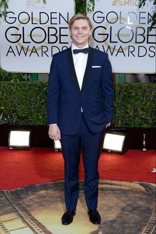 Evan Peters @ the Golden Globes