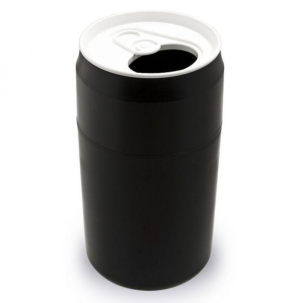 Mülleimer Getränke Dose Capsule Can schwarz Qualy Design