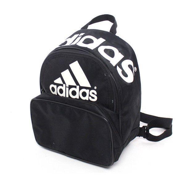 Vtg 90s Adidas Black White Mini Backpack Rucksack (415 SEK) ❤ liked ...