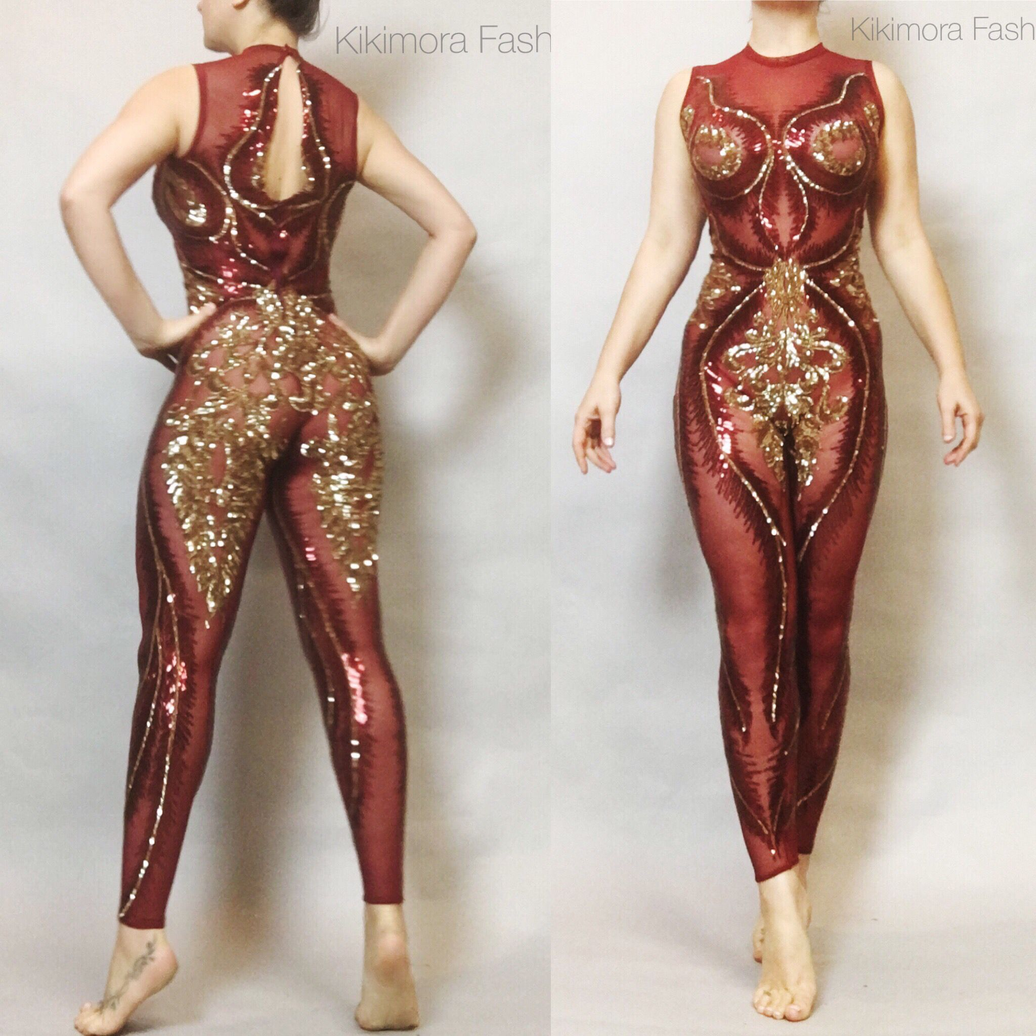 a972c41451 Kikimora Fashion on Etsy. Custom catsuits.  christmas  catsuit  bodysuit   romper  costumes  aerialyoga  contortionist  circus