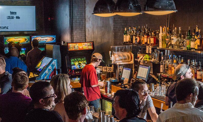 Enjoy a drink and some gaming nostalgia at Joystick Gamebar. (photo Sharif Hassan)