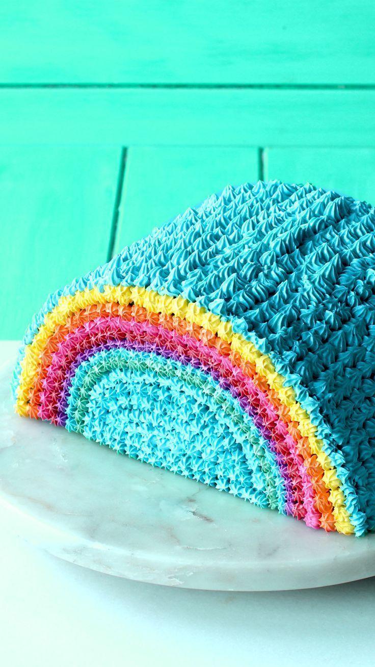 Photo of Regenbogen Piñata Kuchen ~ The Scran Line – Apfel Kuchen –  Rainbow Piñata Cak…