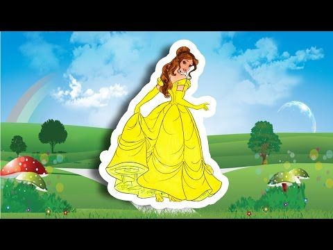 Coloring Pages Of Princess Belle : Coloring disney princess belle in gown disney princess barbie