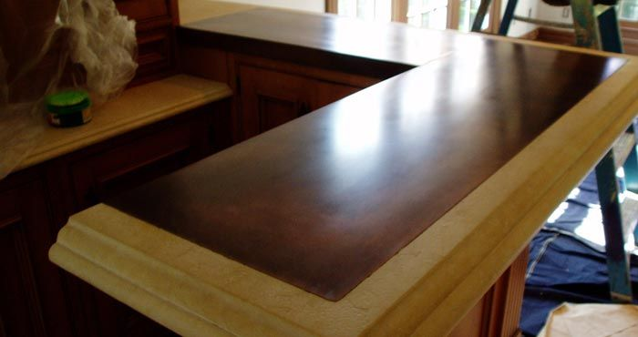 Unique Bar Top Patinated Copper With Stone Rail Get A Quote Faq