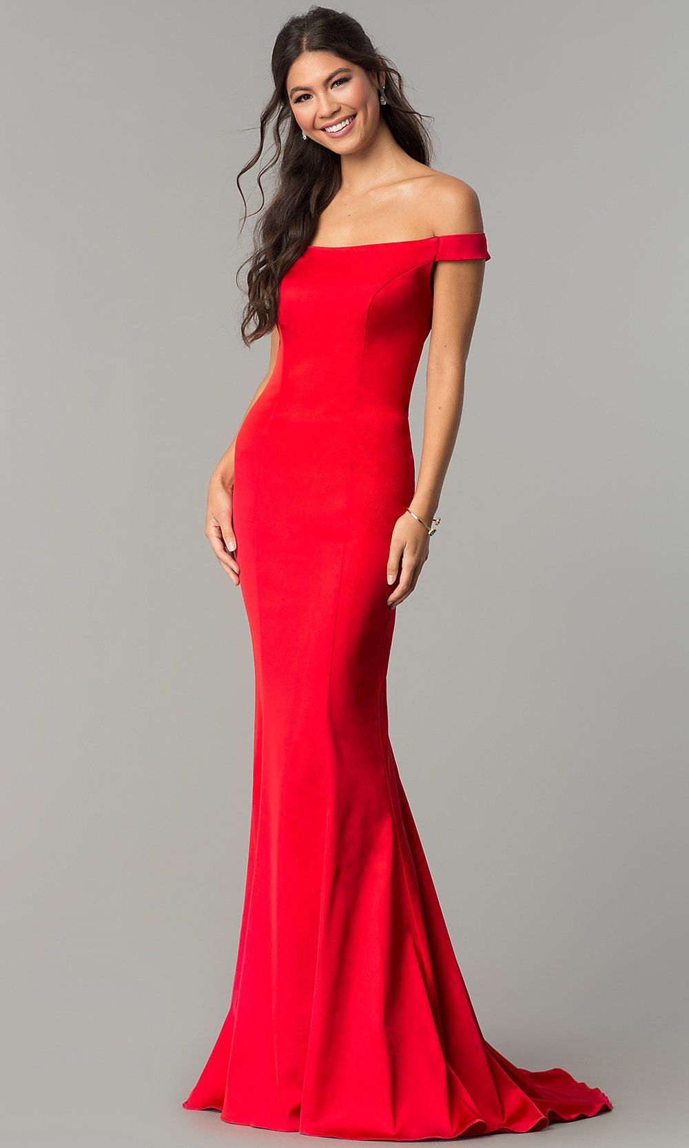 Offtheshoulder long prom dress with open back in womenus