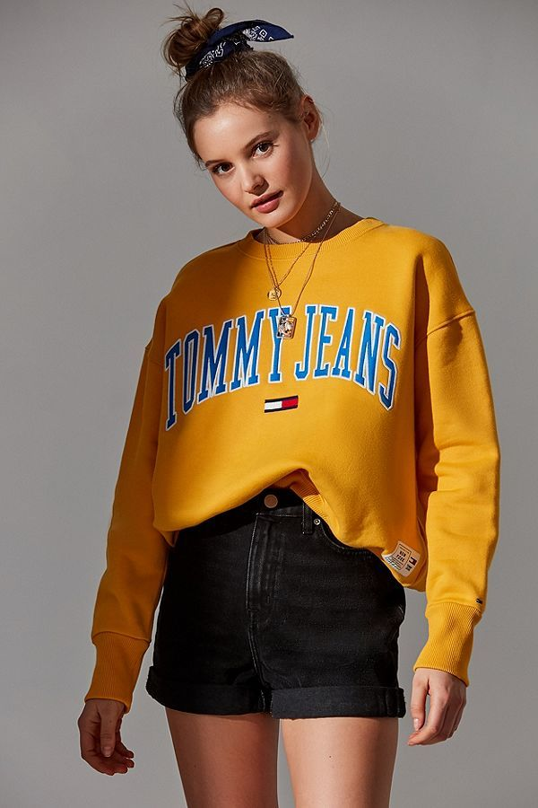 f8b6653b Tommy Jeans Collegiate Crew-Neck Sweatshirt | autumn | Tommy jeans ...