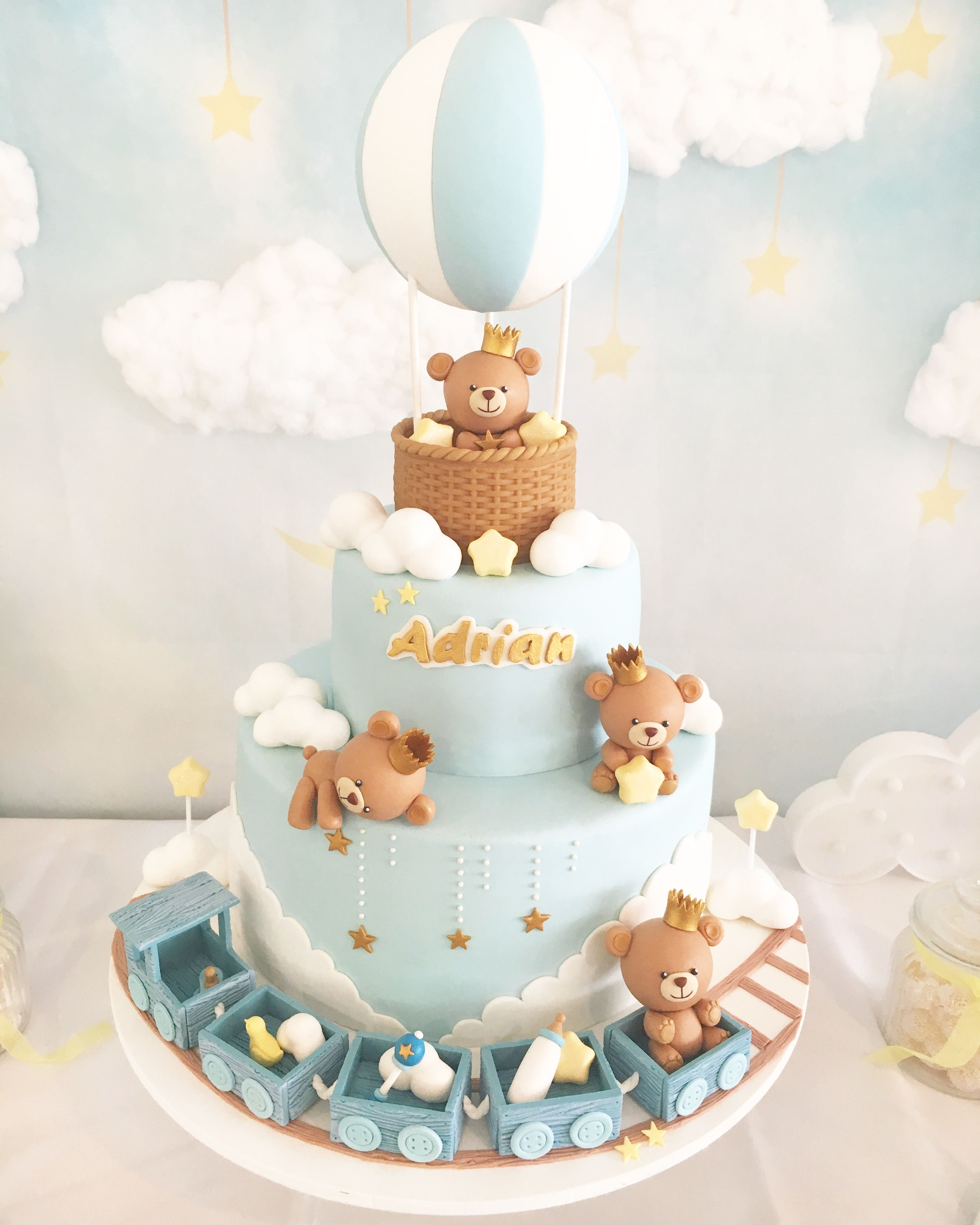 Prime Baby Boy Cake Ideas For Baby Shower And Baptism Baby Bears On An Funny Birthday Cards Online Amentibdeldamsfinfo