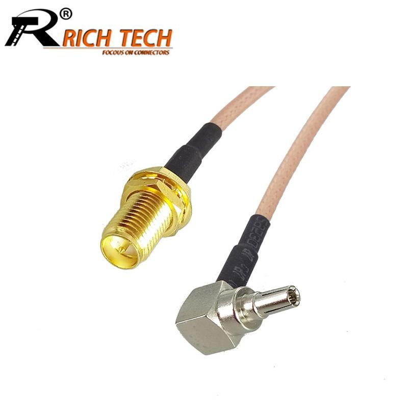 100pcs Lot Rp Sma Female To Crc9 Right Angle Male Plug Rg316 Cable Sma Crc9 Pigtail Cable Extension Cord Rich Tech Wholesales Yesterday S Price Us 158 9 Plugs