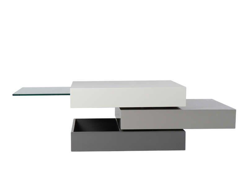 Table Basse Carrée Plateau Pivotant Table Table Basse Et