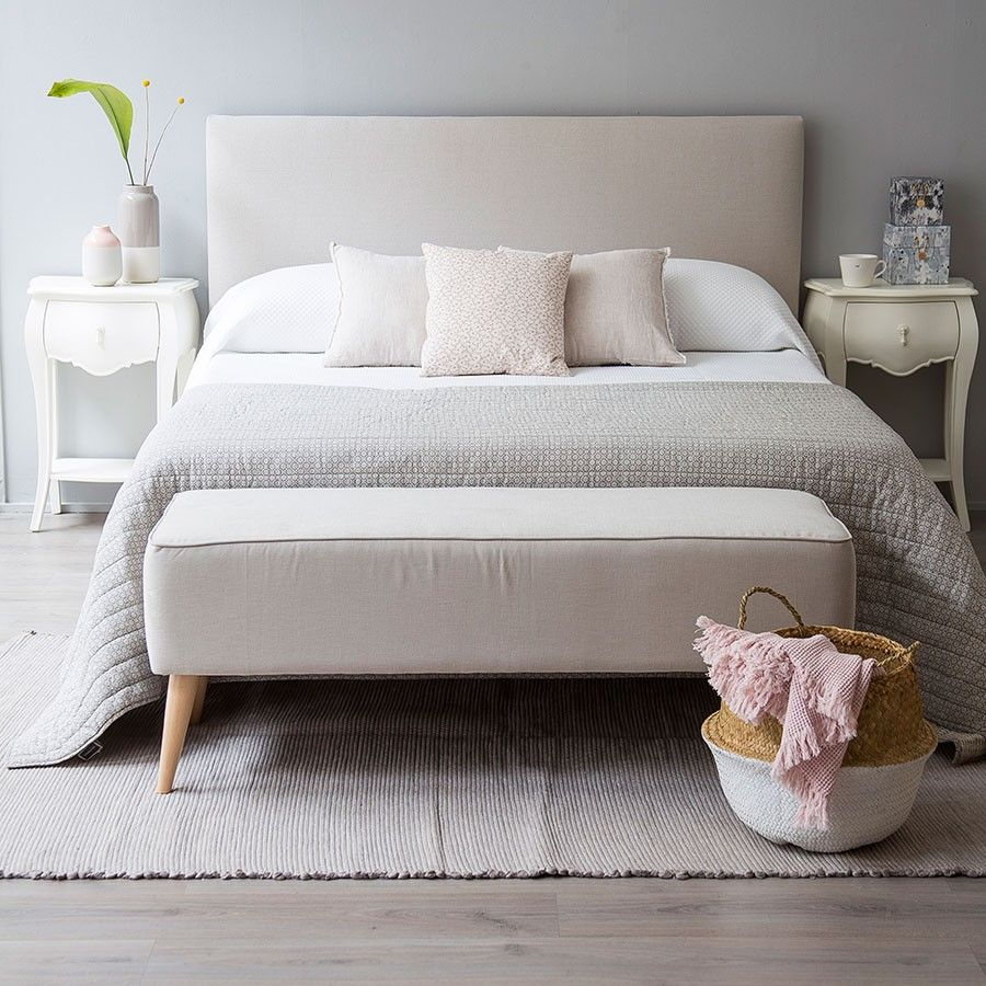 Ares cabecero tapizado en 2019 cabecero 1 39 50 es beige dormitorios cabeceras y decoracion - Cabeceros de cama diseno ...