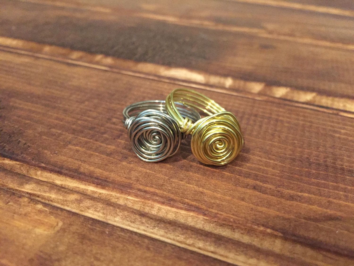 Rose wire wrapped ring by fromnicolewithlove on Etsy