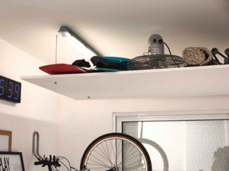 Realiser Un Plafond Suspendu Pour Rangement Leroy Merlin Rangement Au Plafond Deco Rangement Rangement
