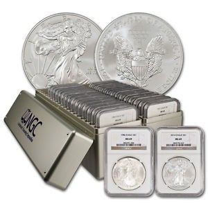 1986 2016 American Silver Eagle 31 Coin Set Ngc Ms69 Silver Coins For Sale Silver Coins Gold And Silver Coins