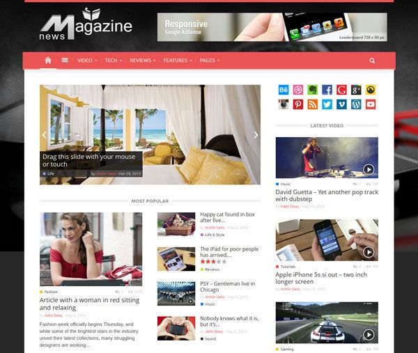 50+ Best Wordpress Magazine Style Themes | Themes WordPress | Pinterest