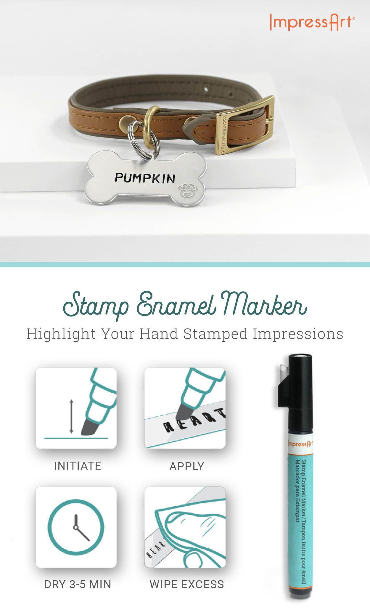 Antique Stamp Enamel Marker 4 Pack Diy Jewelry Stamping