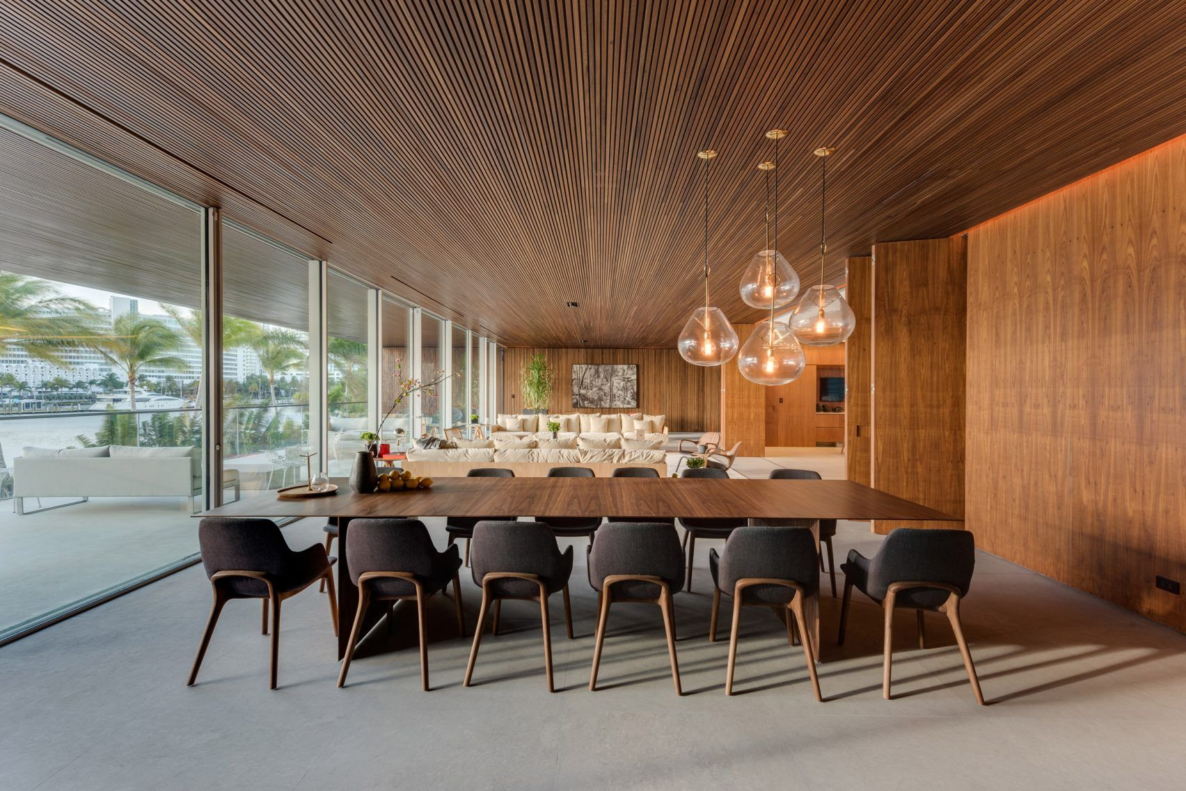 Private Dining Rooms Miami Studio Mk27 Completes Miami Beach House With Its Own Private