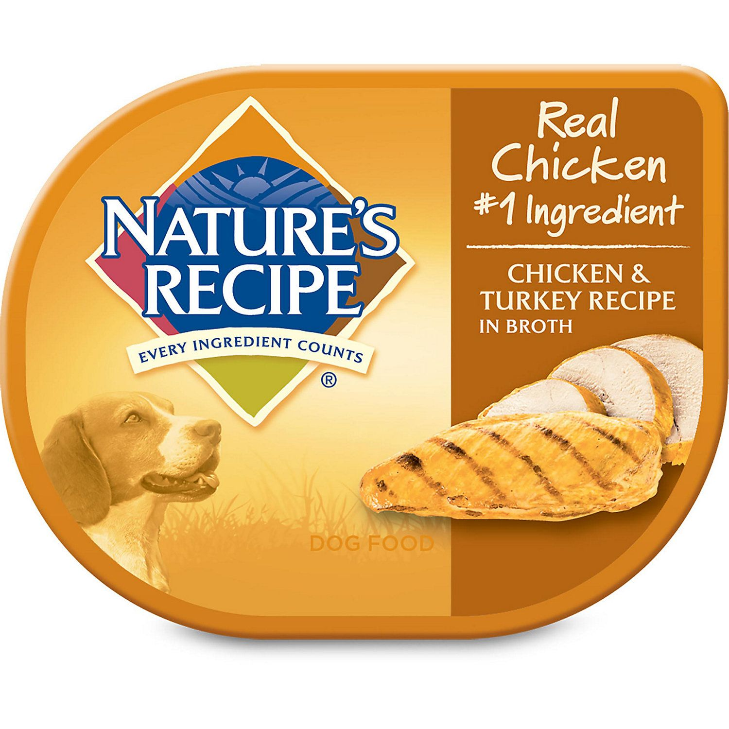 Nature S Recipe Chicken Turkey In Broth Adult Dog Food Tray