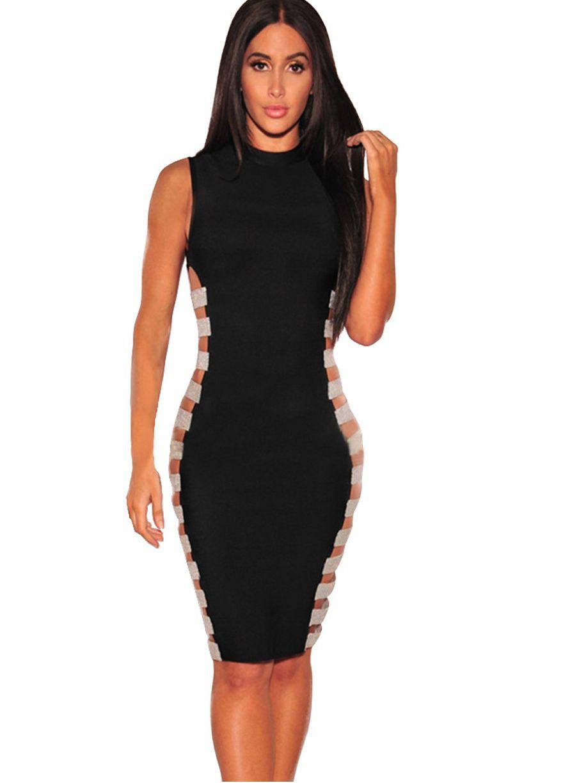 Chic Cut Out Sides Bodycon Dressclub Dressclubwear Clothingsexy